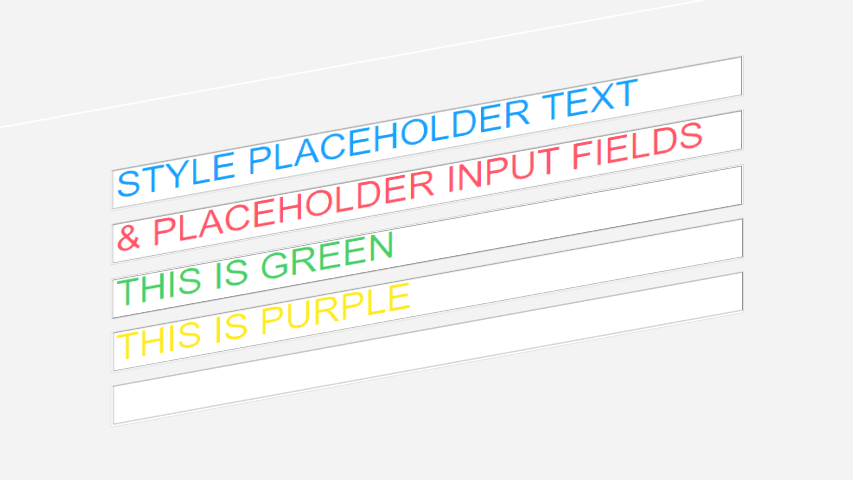 Manipulate CSS Placeholder Color 🌈 Of An HTML Input Field