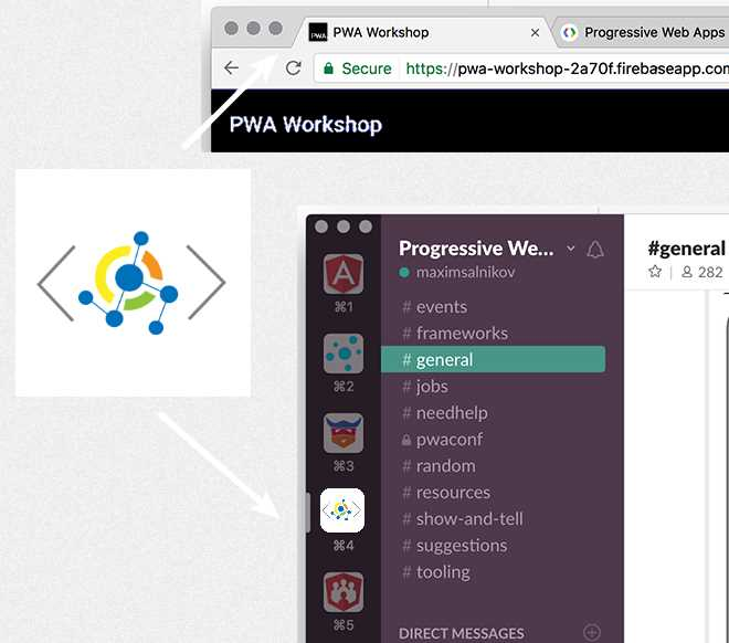 PWA Logo Example