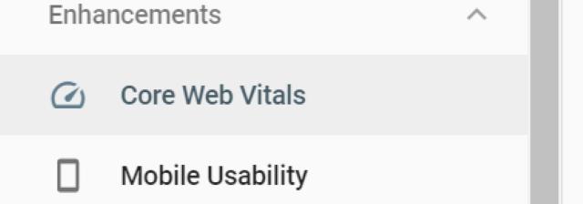 GSC Core Web Vitals