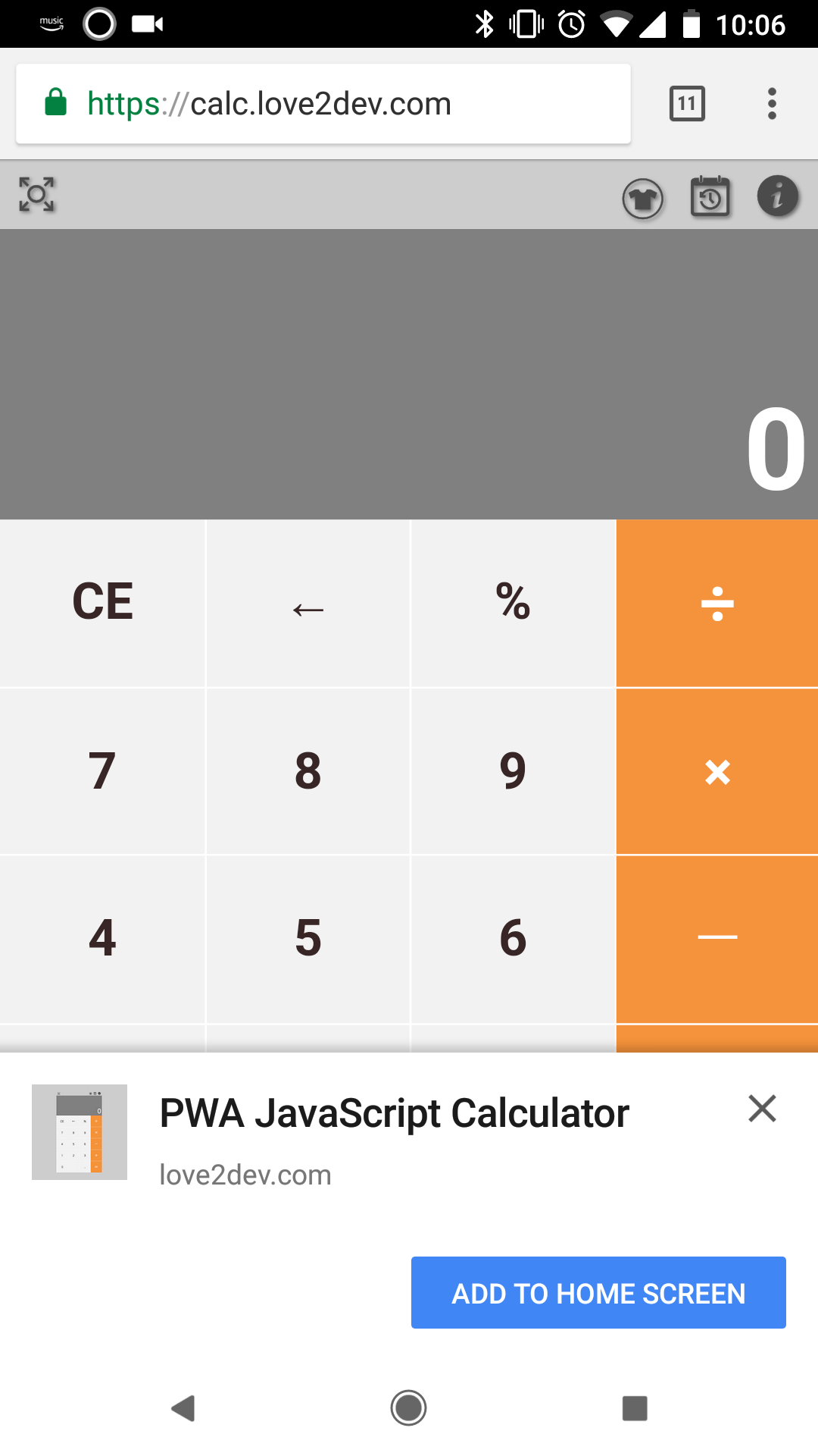 Introducing The Javascript Calculator Progressive Web App (PWA)