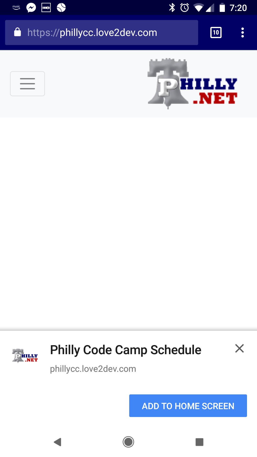 the philly code camp schedule progressive web app pwa the pwa source. Black Bedroom Furniture Sets. Home Design Ideas