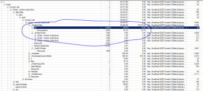 IE 8 Profiler Results