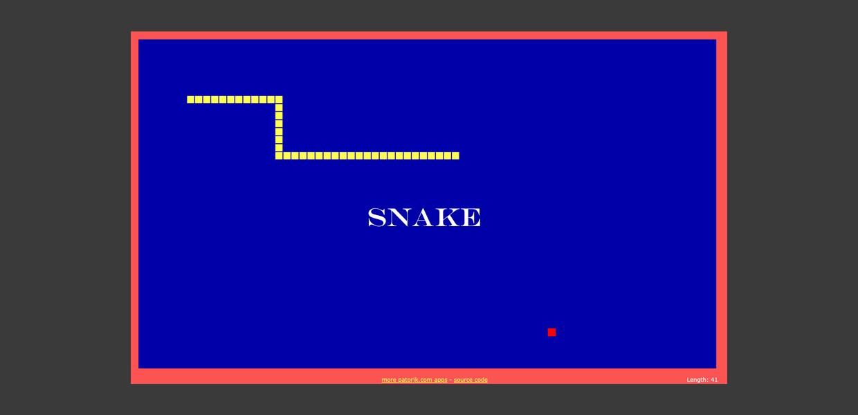 The Javascript Snake ? Game Progressive Web App (PWA)